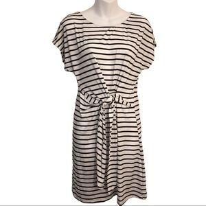 She & Sky Front Tie Stripped Dress